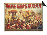 Poster Advertising the 'Ringling Bros.' Circus, c.1900 Prints by  American School