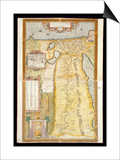 Map of Ancient Egypt, 1584 Posters by Abraham Ortelius