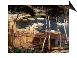 Port de Soller, 1900s Prints by Santiago Rusinol i Prats