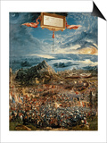 The Battle of Issus, or the Victory of Alexander the Great, 1529 (Oil on Panel) Posters by Albrecht Altdorfer