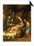 The Death of St. Joseph, C.1712 Prints by Giuseppe Maria Crespi