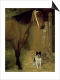 At the Stable, Horse and Dog, C.1862 Prints by Edgar Degas