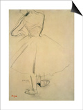 Ballet Dancer from Behind, 19th Century Prints by Edgar Degas
