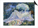 Sunbathing, C.1913 Art by Frederick Carl Frieseke