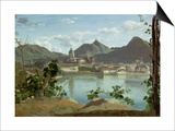 The Town and Lake Como, 1834 Prints by Jean-Baptiste-Camille Corot