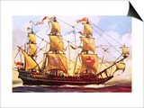 The Spanish Galleon Prints by  English School