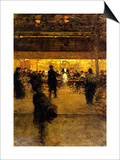 Cafe at Night Posters by Luigi Loir