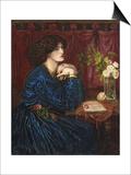 The Blue Silk Dress, 1898 Prints by Dante Charles Gabriel Rossetti