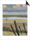 Low Tide at Villerville, 1922 Prints by Félix Vallotton