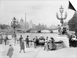 Pont Alexandre III - Exposition Universelle de Paris En 1900 Art by  French Photographer