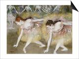 Dancers Bending Down Art by Edgar Degas