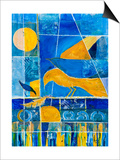 Blue Horizons Print by Margaret Coxall
