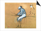 Jockeys Posters by Edgar Degas