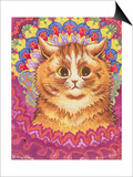 A Psychotic Cat Art by Louis Wain