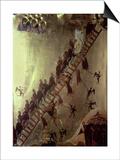 'The Ladder of John Klimakos' Icon, 12th Century Prints