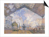 The Gare St. Lazare, 1877 Posters by Claude Monet