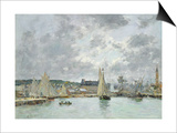 Trouville Harbour, 1880 Posters by Eugene Louis Boudin