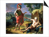 Alexander and Diogenes, 1818 Art by Nicolas Andre Monsiau