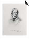 Portrait of Charlotte Bronte, Engraved by Walker and Boutall (Engraving) Prints by George Richmond