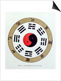The Pa-Kua Symbol, Showing the Symbols For the Eight Changes, the Trigrams and Yin and Yang Prints