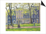 Berkeley Square, South West Corner Print by Julian Barrow