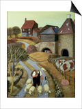 French Street Farm Prints by Margaret Loxton