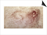 Sketch of a Roaring Lion Poster von  Leonardo da Vinci