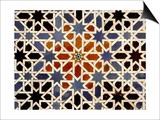 Ceramic Tiles from the Alcazar of Seville Prints