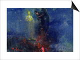 Get Thee Hence, Satan! Print by Ilya Efimovich Repin