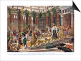 The Visit of the Queen of Sheba to King Solomon, Illustration from 'Hutchinson's History of the… Posters by Edward John Poynter