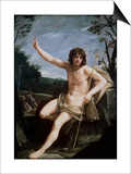St. John the Baptist in the Wilderness, C.1636-37 Prints by Guido Reni