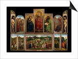 The Ghent Altarpiece, 1432 Print by Hubert & Jan Van Eyck