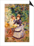 In the Garden, 1885 Poster by Pierre-Auguste Renoir