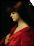 Study of a Woman in Red, Early 1890s Prints by Jean-Jacques Henner