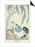 Water, 1925 (Pochoir Print) Prints by Georges Barbier