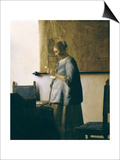 Woman Reading a Letter, circa 1662-63 Prints by Jan Vermeer