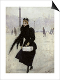 Parisian Woman in the Place de La Concorde, c.1890 Posters by Jean Béraud