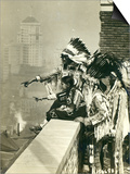 Blackfoot Indians on the Roof of the McAlpin Hotel, Refusing to Sleep in their Rooms, New York City Prints by  American Photographer