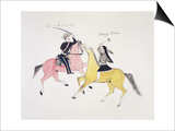 Symbolic Portrayal of the Conflict Between the Indians and the Whites Prints by  Kills Two