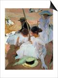 Under the Parasol, Zarauz, 1910 Art by Joaquín Sorolla y Bastida