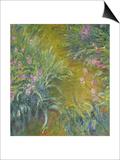 Iris Print by Claude Monet