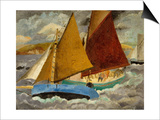 Yacht Race at Portscato, Cornwall, 1928 Print by Christopher Wood