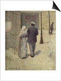 A Couple in the Street, 1887 Prints by Charles Angrand