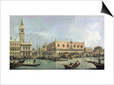 The Molo and the Piazzetta San Marco, Venice Prints by  Canaletto