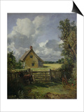 Cottage in a Cornfield, 1833 Print by John Constable