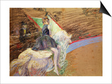 At the Circus Fernando, Rider on a White Horse, 1888 Láminas por Henri de Toulouse-Lautrec