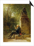 The Philosopher (The Reader in the Park) Posters av Carl Spitzweg