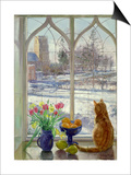 Snow Shadows and Cat Posters by Timothy Easton