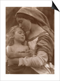 Portrait of Mother and Child (Sepia Photo) Póster por Julia Margaret Cameron