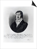 Georg Wilhelm Friedrich Hegel, Engraved by F.W Bollinger, C.1825 Prints by Johann Christian Xeller